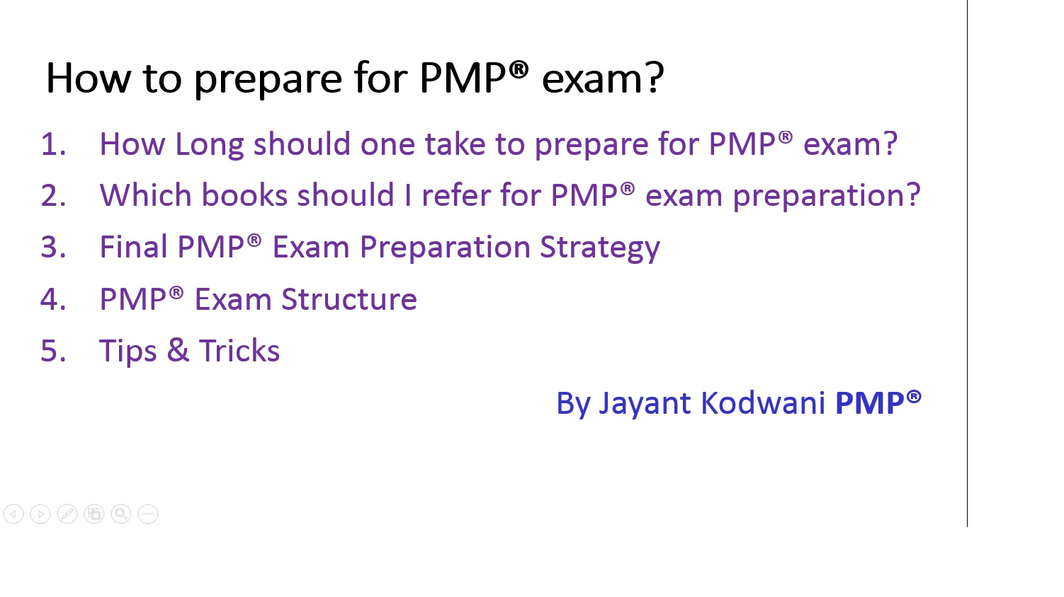 How to prepare for pmp exam jayantkodwani 1betcityfo Images